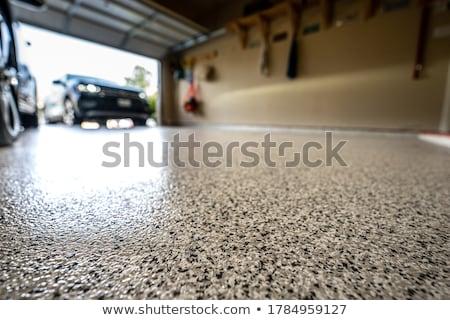 grande · garaje · concretas · piso · casa · trabajo - foto stock © spectral