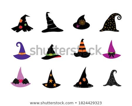 Halloween vecchio verde magia cappello da strega isolato Foto d'archivio © TasiPas