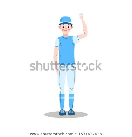 Softbal speler cartoon illustratie vrouwen Stockfoto © cthoman