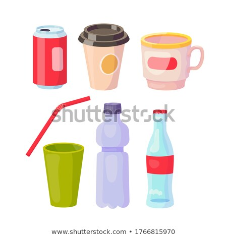 plastic and glass waste set of colorful banners stock photo © robuart