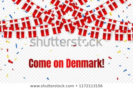 Dinamarca guirnalda bandera confeti transparente celebración Foto stock © olehsvetiukha