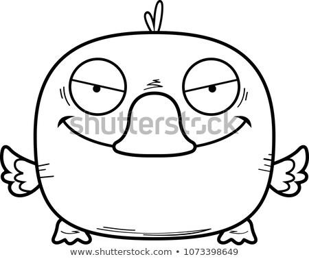 Desenho animado patinho ilustração pequeno pássaro jovem Foto stock © cthoman