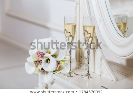 bruiloft · bril · champagne · banket · partij · zonsondergang - stockfoto © ruslanshramko