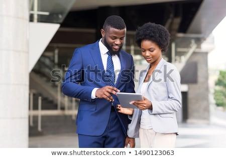 Casal digital comprimido ao ar livre mulher cidade Foto stock © Minervastock