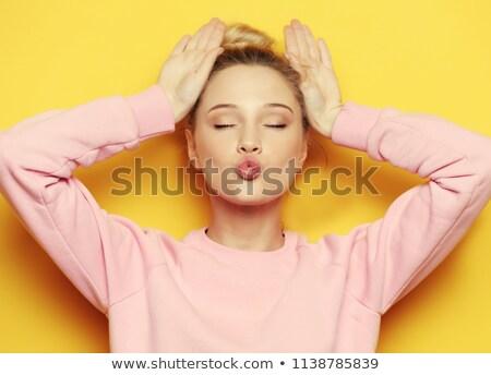 Girl Making Teasing Face Stock photo © AndreyPopov