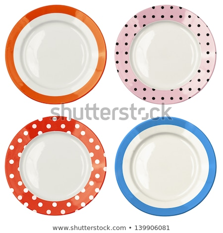 Raccolta vuota colorato piatto top view Foto d'archivio © make