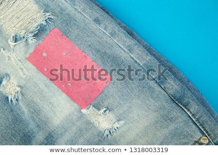 Jeans rosa blu denim carta copia spazio Foto d'archivio © Illia