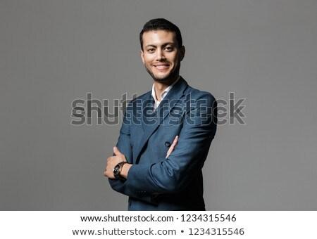 Afbeelding brunette arabisch zakenman 30s formeel Stockfoto © deandrobot