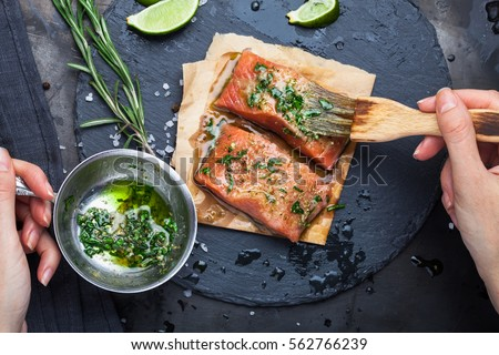 Hazırlık tuz biberiye sarımsak pişirme Stok fotoğraf © jamdesign