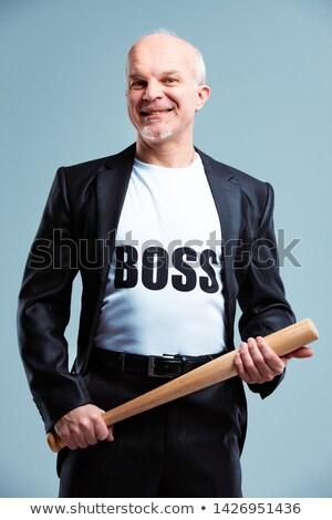 Patron permanent batte de baseball tshirt texte Photo stock © Giulio_Fornasar