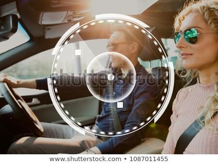 Interface paar auto digitale composiet vrouw vergadering Stockfoto © wavebreak_media