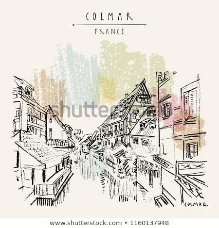 historic houses, Colmar, France Stock photo © borisb17