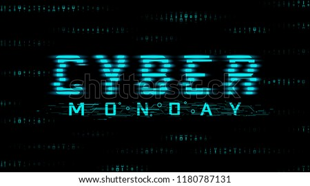 cyber monday sale banner in futuristic style stock photo © SArts