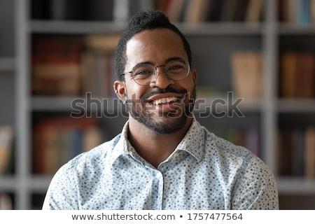 Ear african american man headshot stock photo © Lopolo