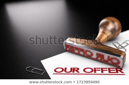 Business offrire prodotti servizi illustrazione 3d Foto d'archivio © olivier_le_moal