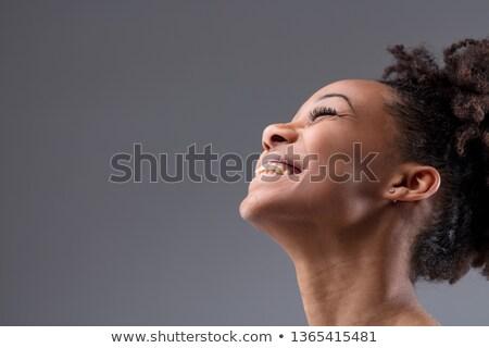 Tiro feliz despreocupado africano americano mulher Foto stock © vkstudio
