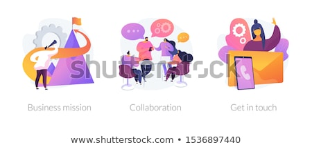 Getting in touch vector concept metaphor Stock photo © RAStudio