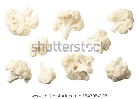 Friss karfiol izolált fehér kert vásárlás Stock fotó © inxti