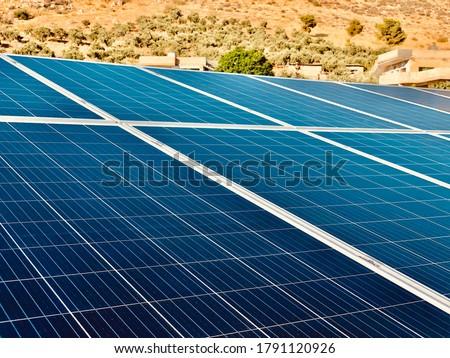 Nap fotovoltaikus ipari installáció napelemek üzlet Stock fotó © deyangeorgiev