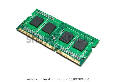 computer · ricordo · chip · primo · piano · view · blu - foto d'archivio © homydesign