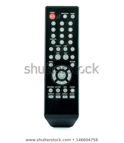 Old TV Remote Control with dust isolated on white background stock photo © pinkblue