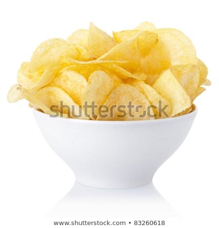 Bowl of Potato Chips Stock photo © ca2hill