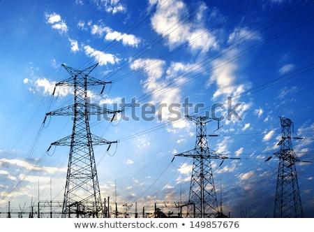 электроэнергии пост Blue Sky Таиланд строительство власти Сток-фото © sweetcrisis