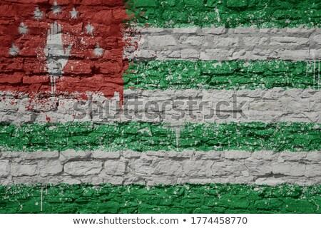 Flag of Abkhazia on brick wall Stock photo © creisinger
