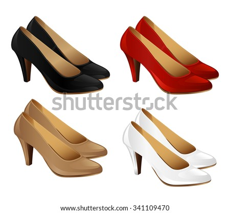 Classic high heeled court shoes Stock photo © stryjek