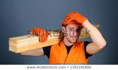 Craftsman carrying timber Stock photo © photography33