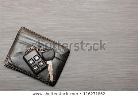 Clés de voiture documents sombre bois voiture métal Photo stock © inxti