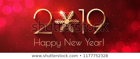 happy · new · year · illustration · texte · 3d · brillant · bleu - photo stock © pathakdesigner