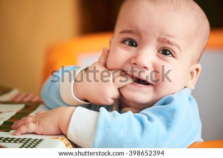 Teething Baby Stock photo © ozgur