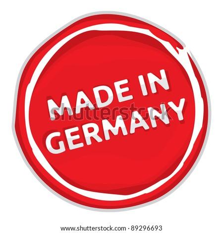 Germania timbro rosso cera sigillo isolato Foto d'archivio © tashatuvango