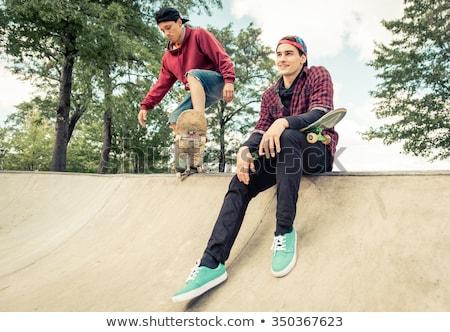 Stock photo: two skater
