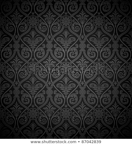 Naadloos gothic damast eps vector bestand Stockfoto © beholdereye