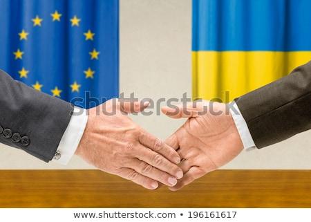EU Ukrajna kézfogás üzlet kezek siker Stock fotó © Zerbor