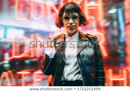 Beautiful girl in the city at night time Stock photo © Nejron