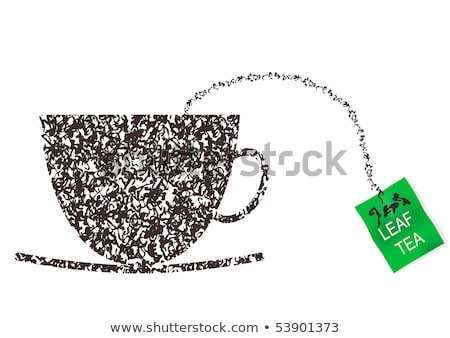 a cup of tea made by a teabag Stock photo © Hofmeester