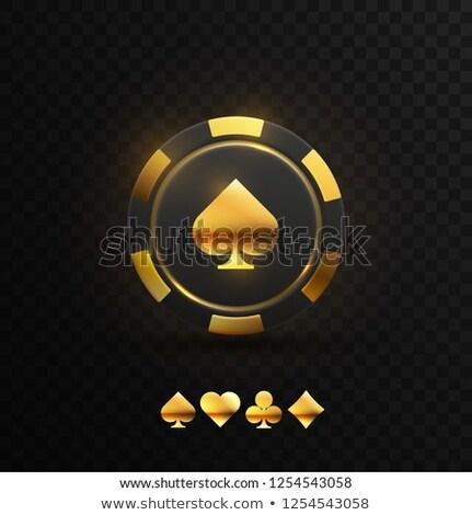 golden poker symbols vector illustration stock photo © carodi
