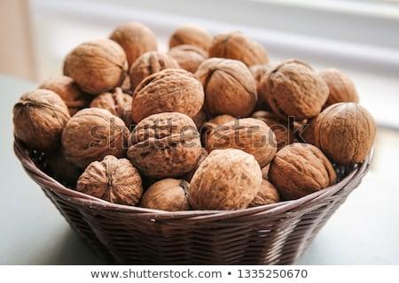 Stockfoto: Walnoot · textuur · vruchten · achtergrond · industrie