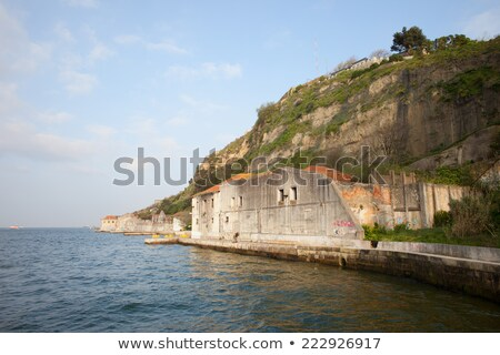 Old Quay Waterfront in Almada Stock photo © rognar