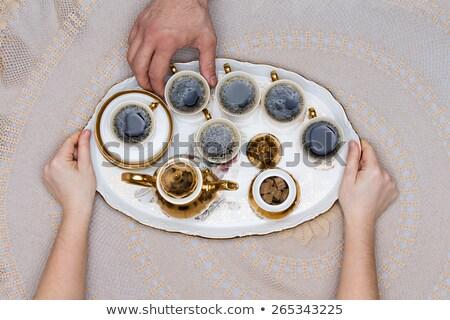 Seis turco café servido branco Foto stock © ozgur