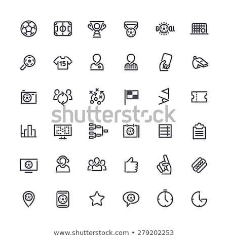 Thin Vector Icons on the Theme of Soccer Stock photo © Voysla