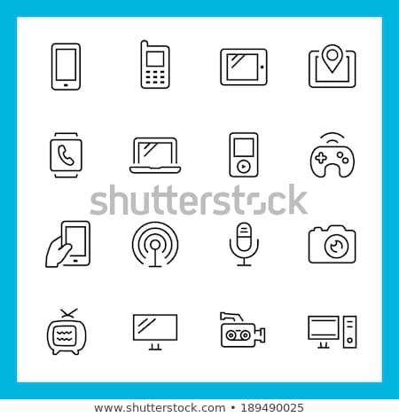 Wireless gadget thin line icon Stock photo © RAStudio