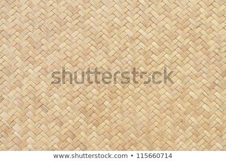 Szalmaszál kosár textúra háttér szék minta Stock fotó © giko