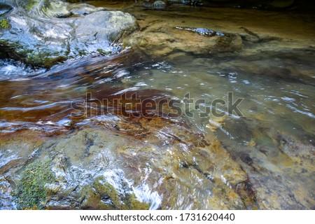 folyó · víz · fenék · folyam · piros · kövek - stock fotó © lunamarina