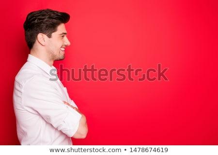 imprenditore · rosso · shirt · mani · top · view - foto d'archivio © paha_l