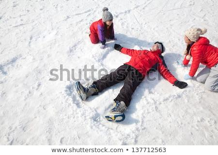 criança · menina · neve · inverno · óculos · branco - foto stock © paha_l