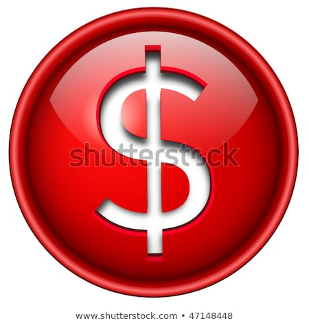 dollar sign red vector icon design stock photo © rizwanali3d